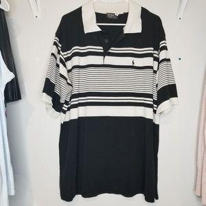 RALPH LAUREN   Big & Tall 5x striped Polo shirt